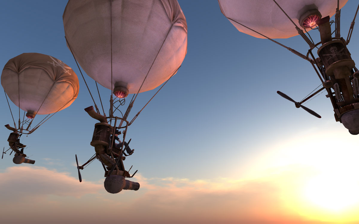 Battle Balloons is a Game i created where teams off two shoot each other out of the skies